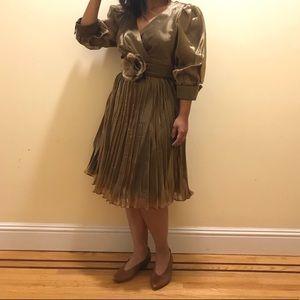 Dresses & Skirts - SALE! Gold Metallic Vintage 80s Fun Party Dress